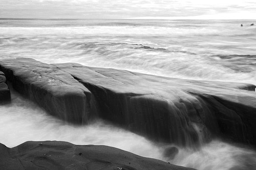 La Jolla with a long exposure. Camera EXIF 35mm 2.5 seconds at f 22 ISO 50