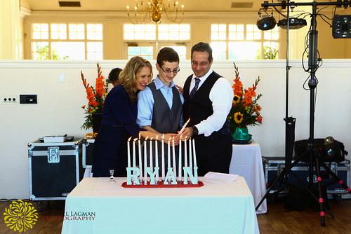 Candle lighting ceremony at Carmel Mountain Country Club