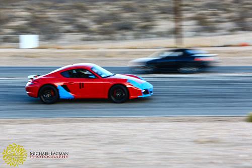 Porsche running fast at Willows Springs