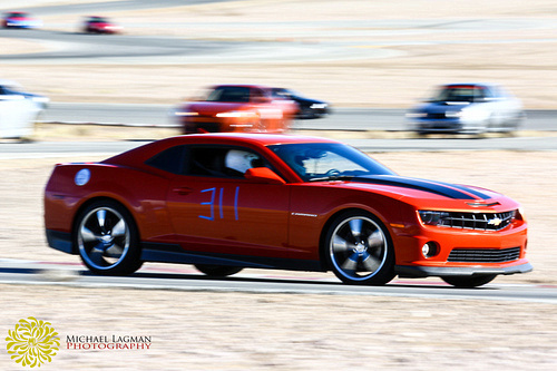 Side view of camero during car days