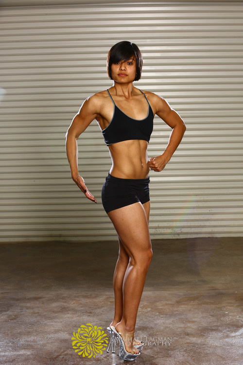 Edna is doing one of her competition poses for us.  Fitness photography - Michael Lagman Photography