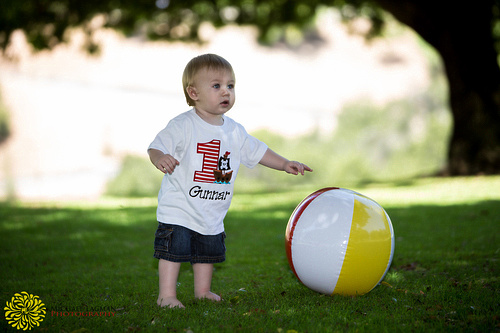 Gunnar loved playing with his beach ball