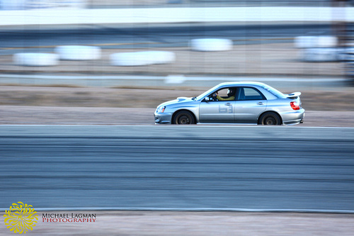 Subaru panning at Willow Springs International