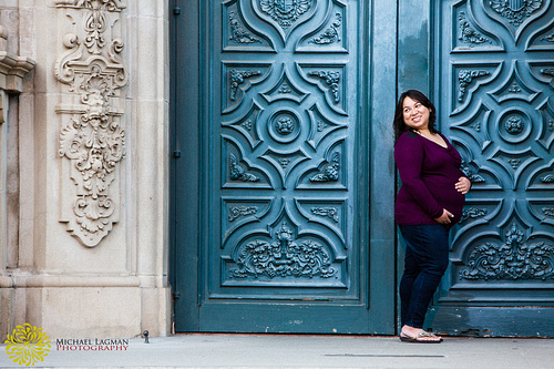 Playing it up and having fun is always makes a great maternity portrait.  We took this picture at Balboa Park.