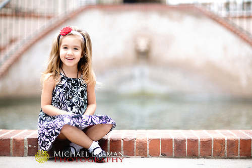 I love the big smile that Alegra gave us for this photo at Balboa Park.