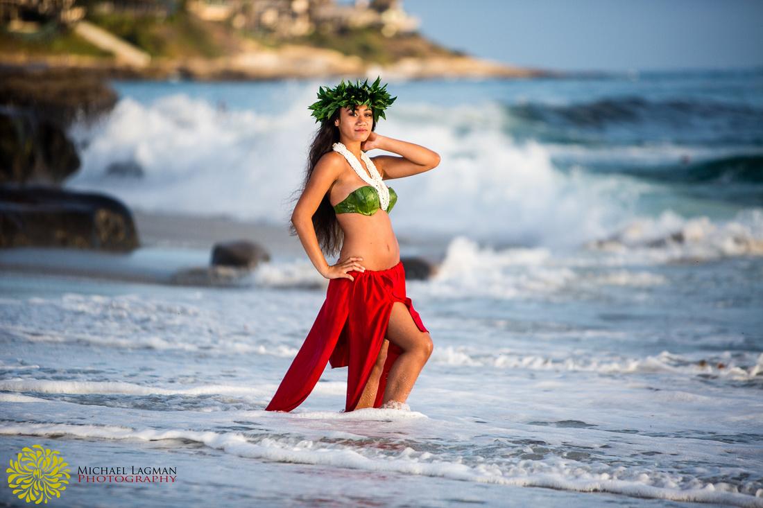 La Jolla beach photo, Tahiti inspired, Hula, Hawaiian, Tahitian, San Diego, La Jolla